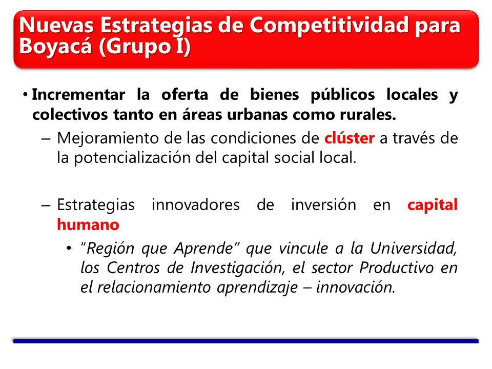 Nuevas Estrategias de Competitividad para Boyacá (Grupo I)