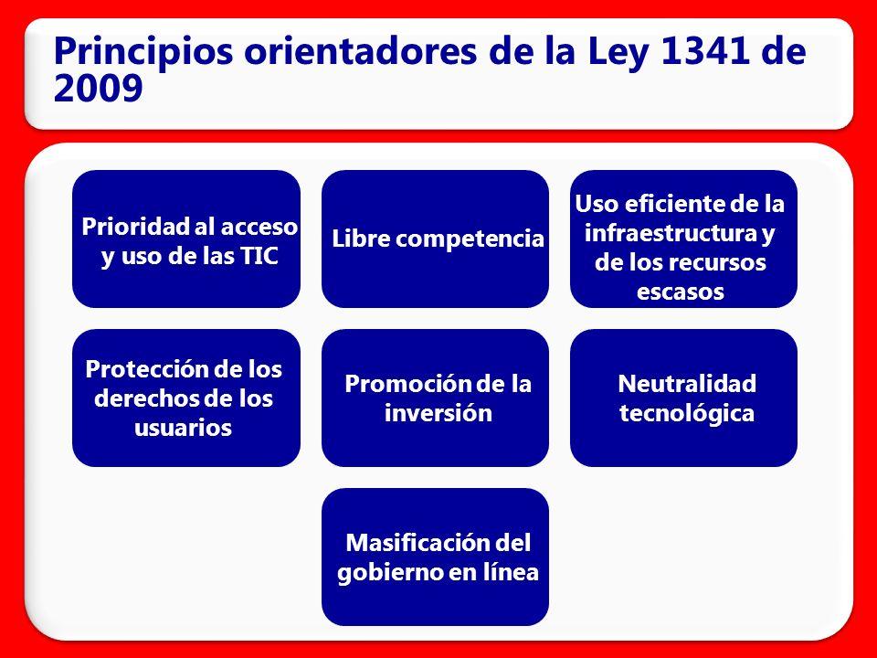 Principios orientadores de la Ley 1341 de 2009
