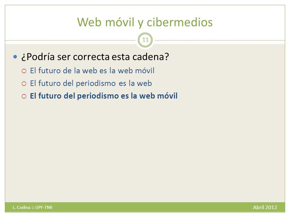 Web móvil y cibermedios