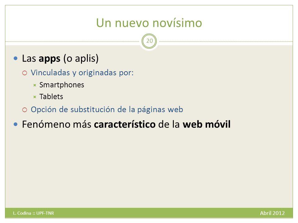Un nuevo novísimo Las apps (o aplis)