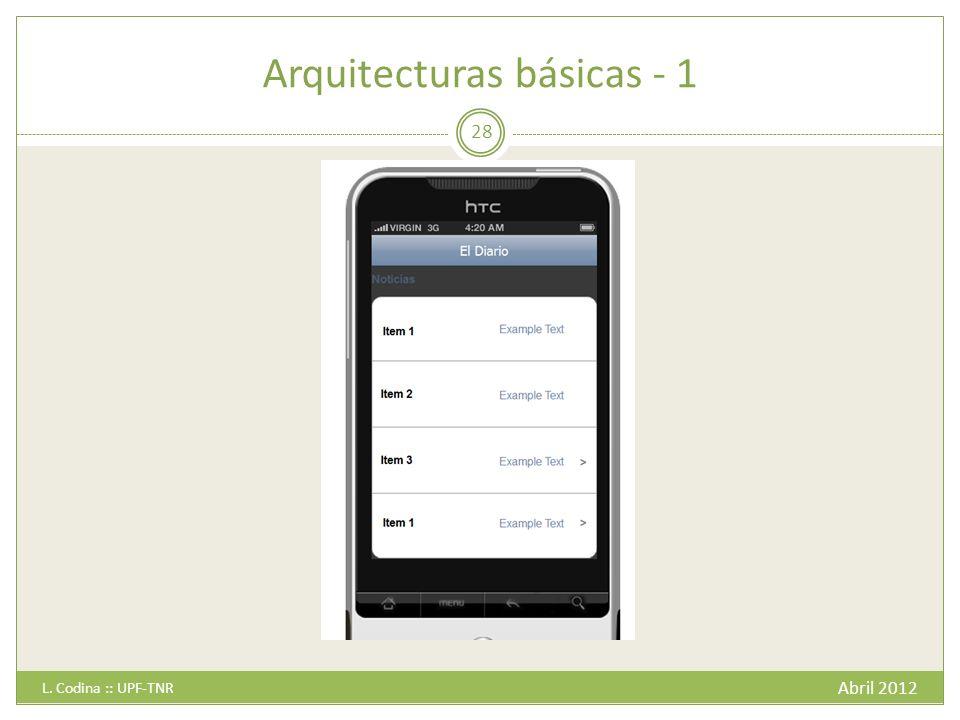 Arquitecturas básicas - 1