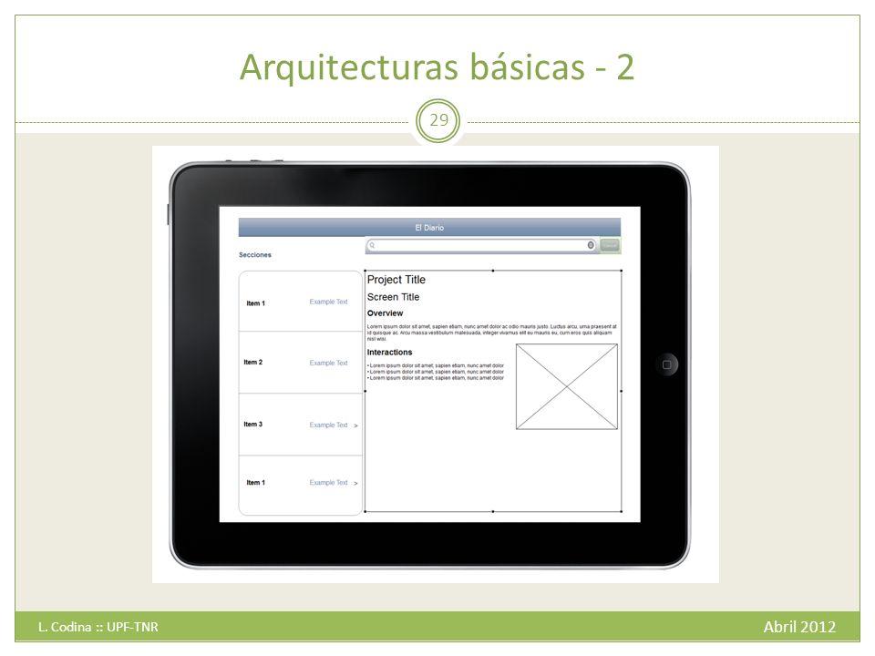 Arquitecturas básicas - 2