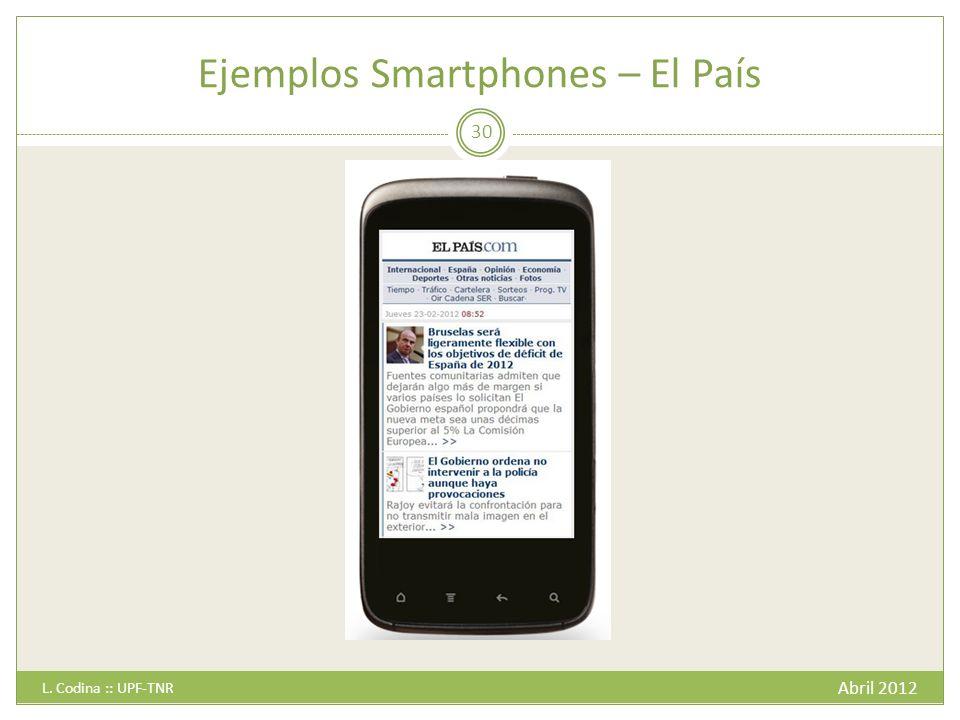 Ejemplos Smartphones – El País