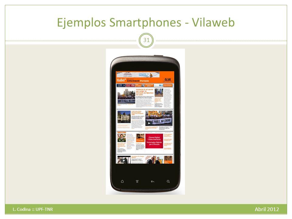 Ejemplos Smartphones - Vilaweb