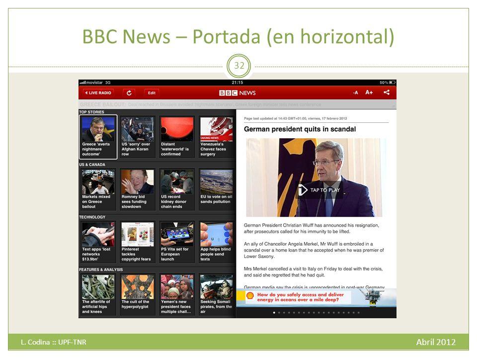 BBC News – Portada (en horizontal)