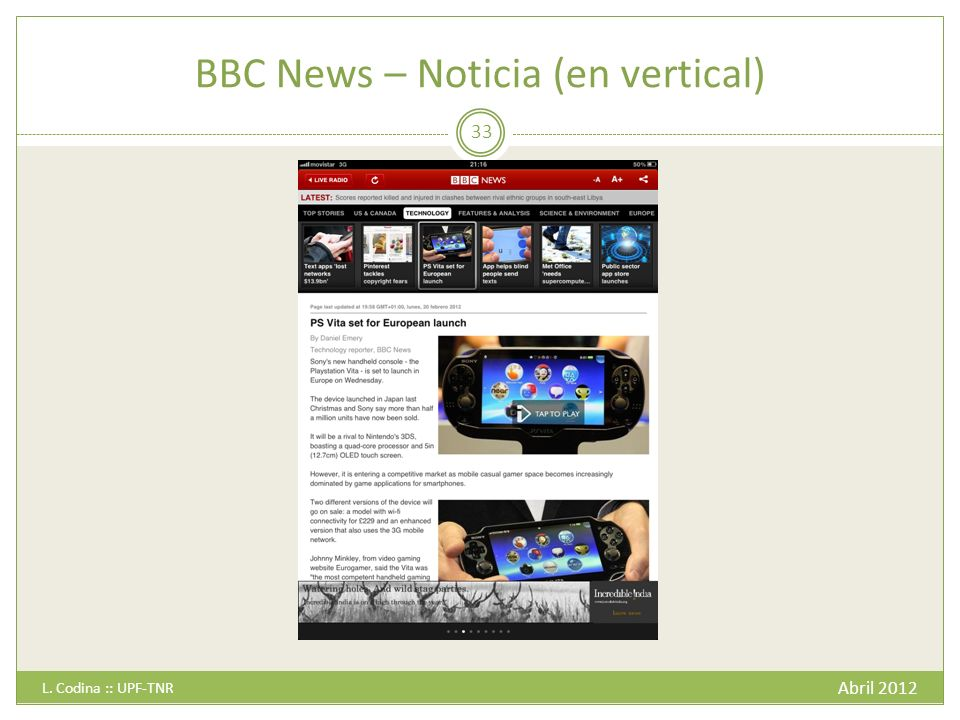 BBC News – Noticia (en vertical)