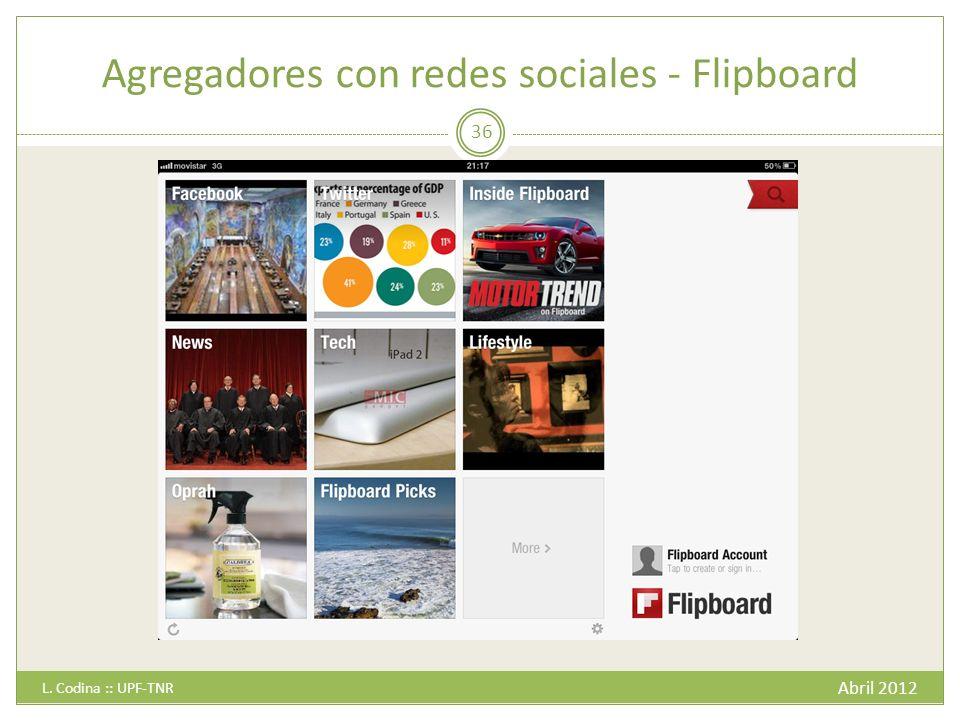 Agregadores con redes sociales - Flipboard