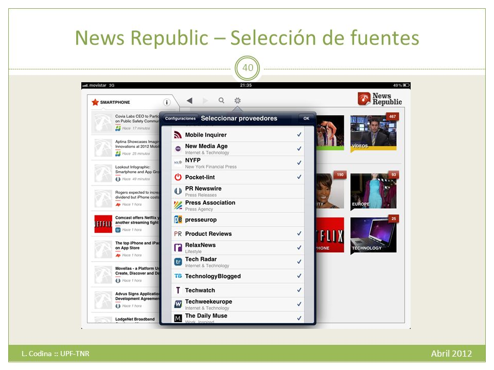 News Republic – Selección de fuentes