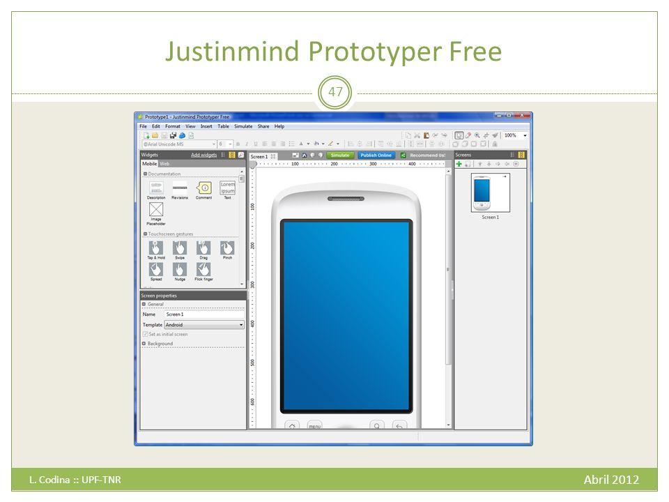 Justinmind Prototyper Free