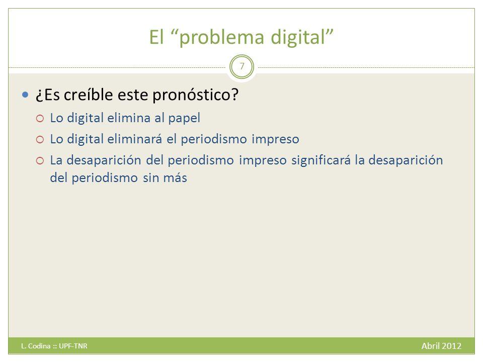 El problema digital ¿Es creíble este pronóstico