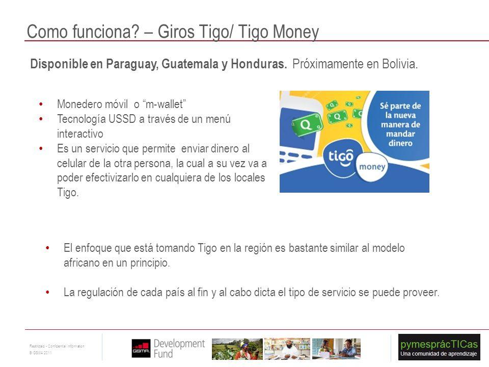 Como funciona – Giros Tigo/ Tigo Money