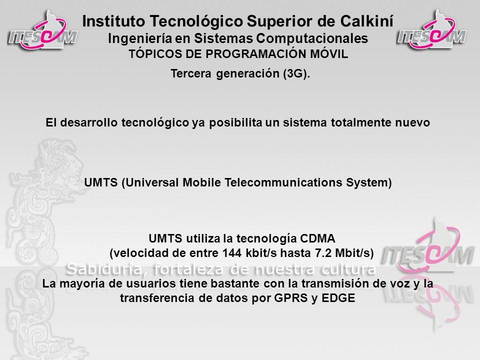 Tercera generación (3G).