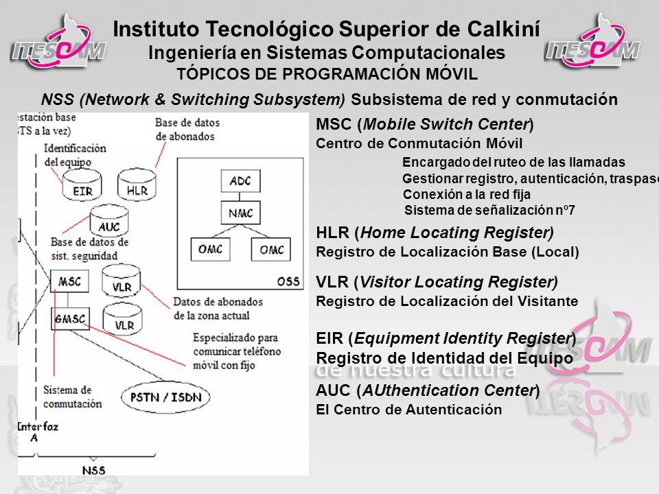 NSS (Network & Switching Subsystem) Subsistema de red y conmutación