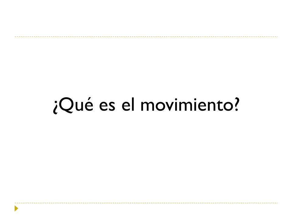 ¿Qué es el movimiento