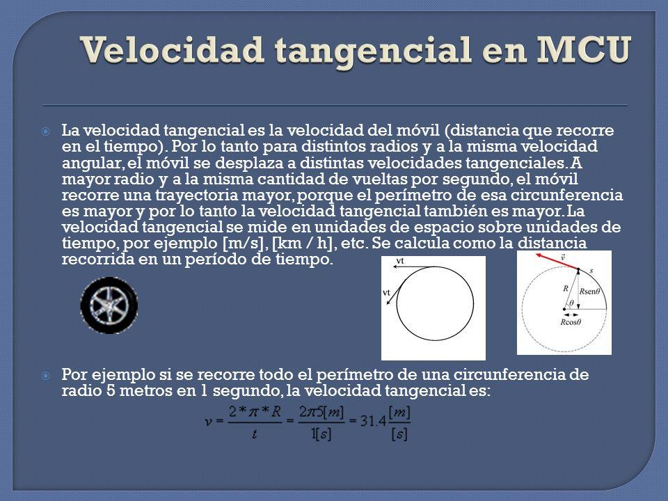 Velocidad tangencial en MCU