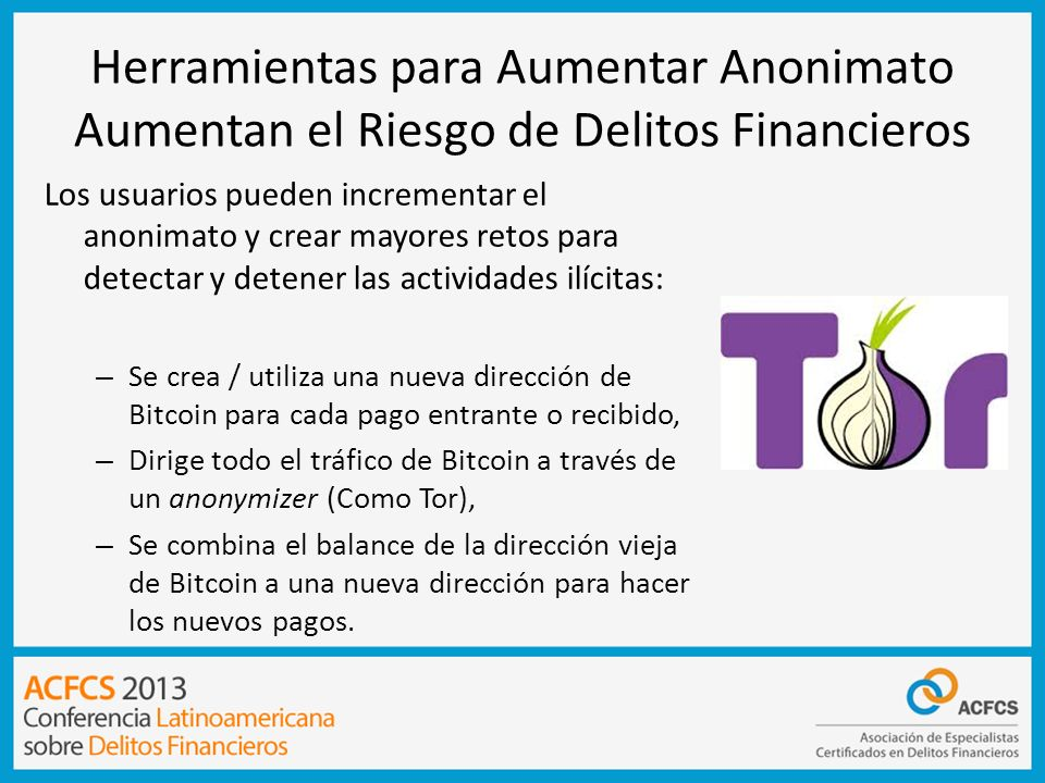 Herramientas para Aumentar Anonimato Aumentan el Riesgo de Delitos Financieros