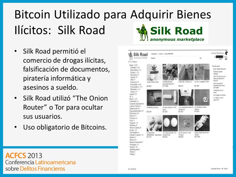 Bitcoin Utilizado para Adquirir Bienes Ilícitos: Silk Road
