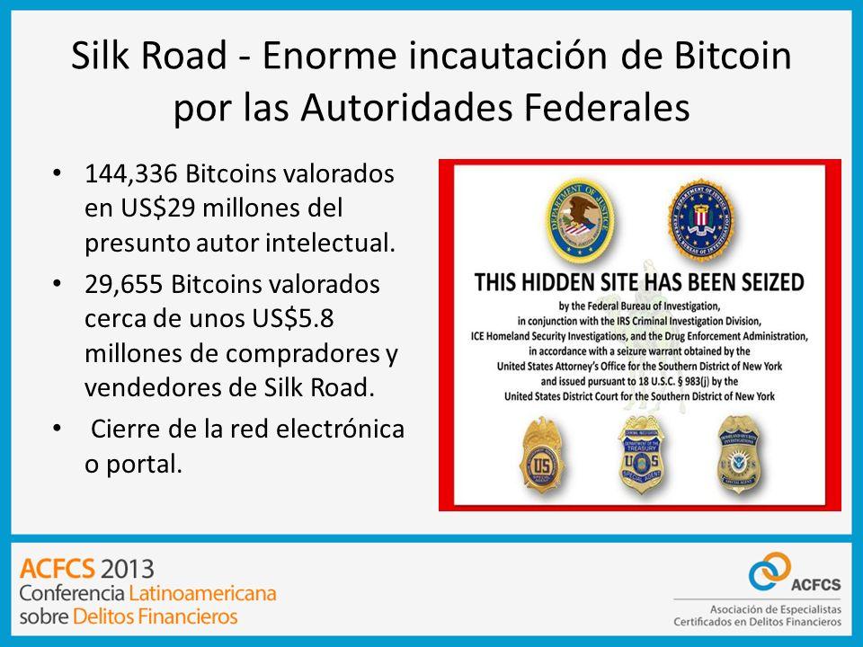 Silk Road - Enorme incautación de Bitcoin por las Autoridades Federales