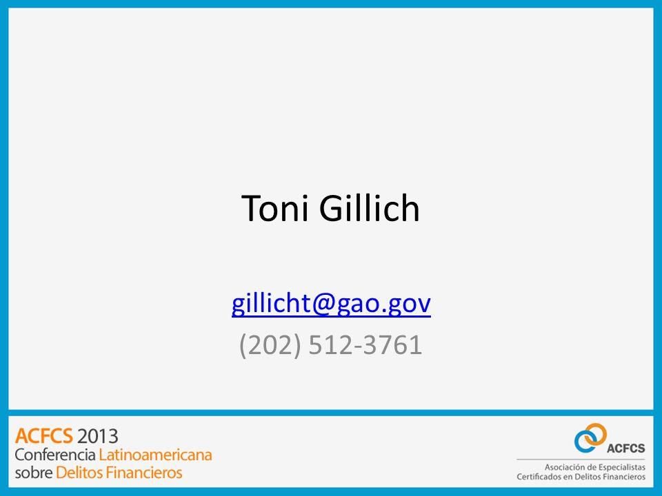 Toni Gillich gillicht@gao.gov (202) 512-3761