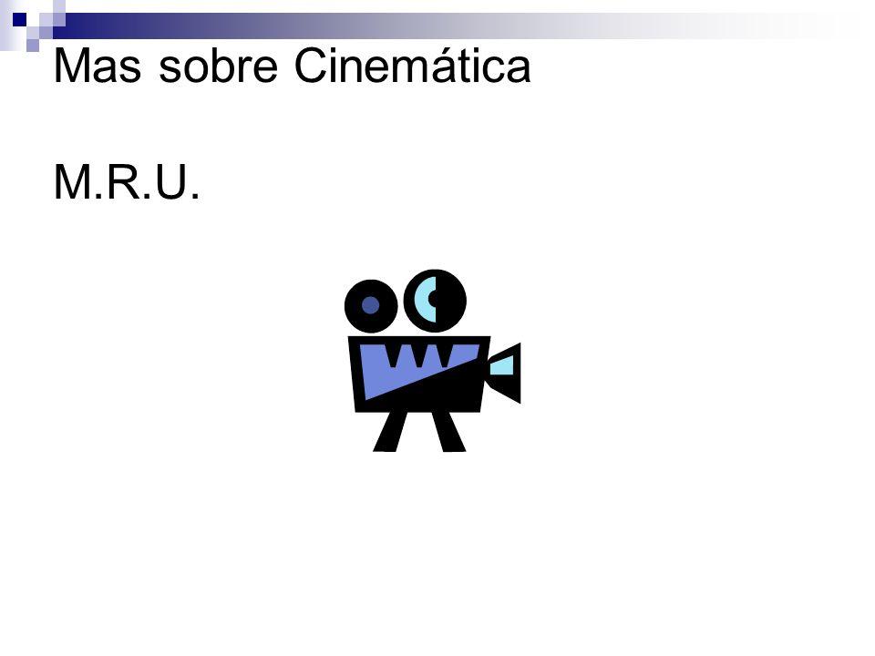 Mas sobre Cinemática M.R.U.