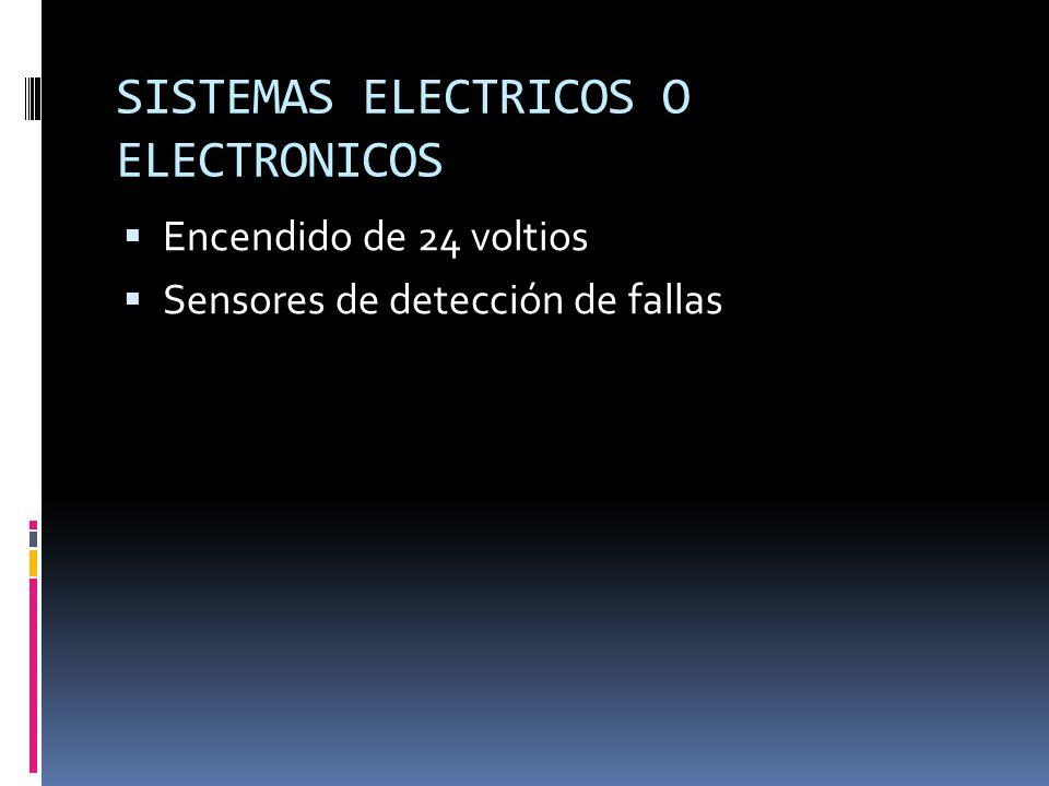 SISTEMAS ELECTRICOS O ELECTRONICOS