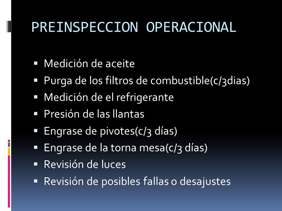 PREINSPECCION OPERACIONAL