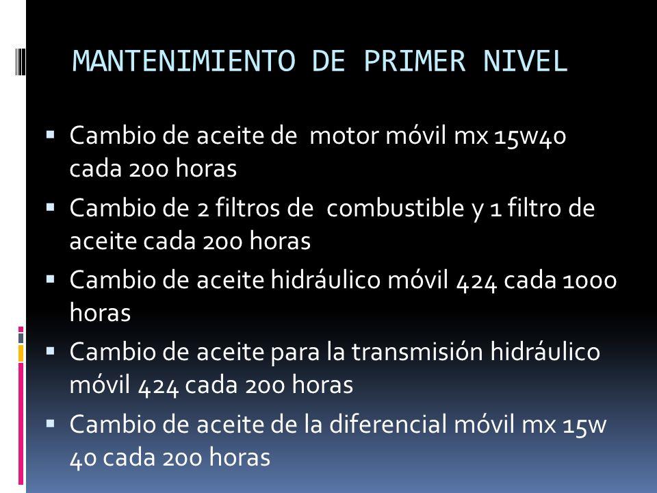 MANTENIMIENTO DE PRIMER NIVEL