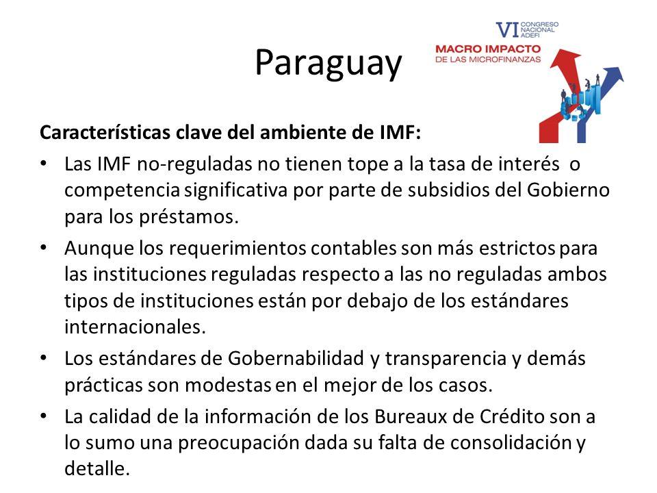 Paraguay Características clave del ambiente de IMF: