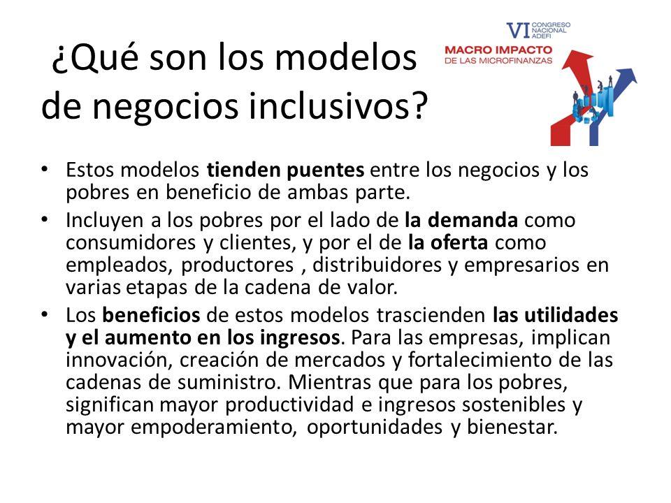 ¿Qué son los modelos de negocios inclusivos
