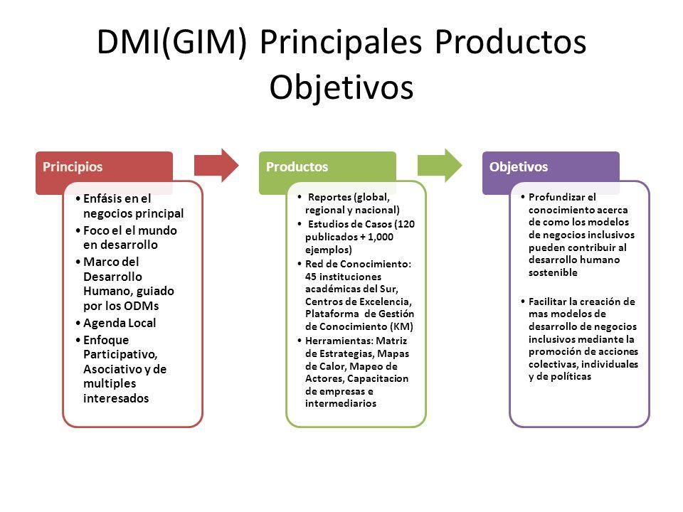 DMI(GIM) Principales Productos Objetivos