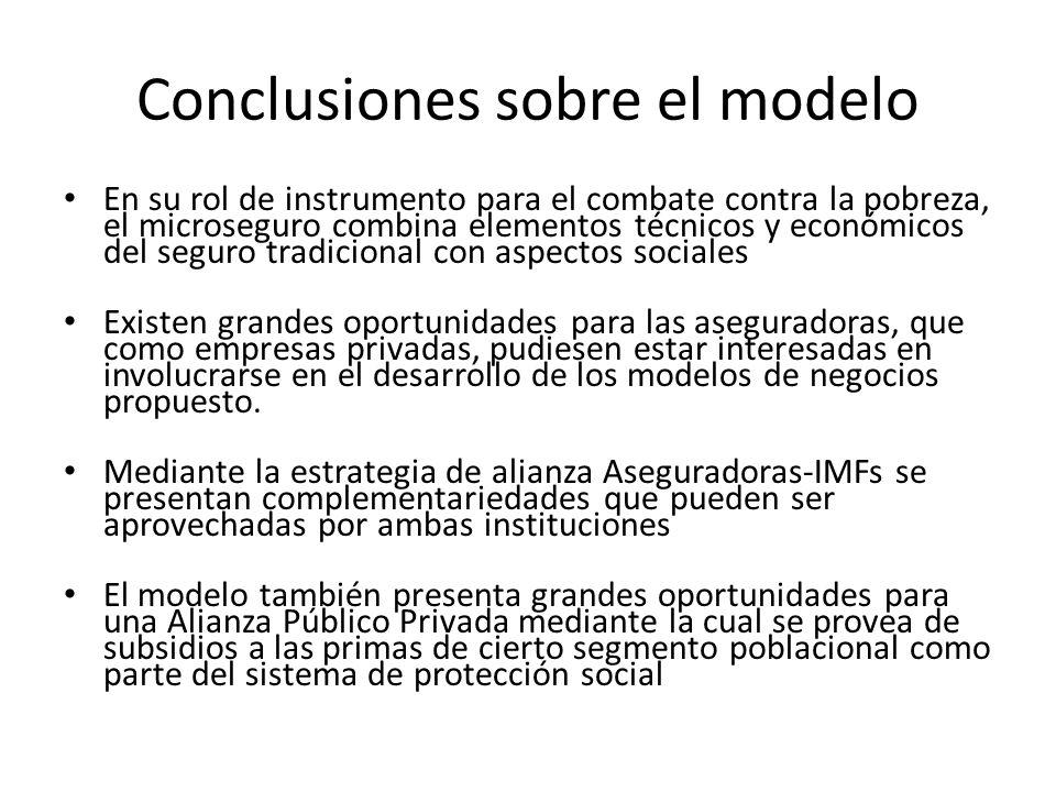 Conclusiones sobre el modelo