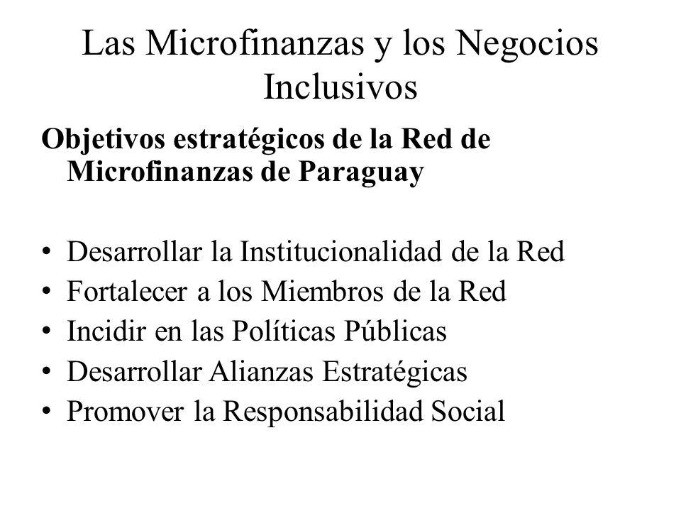 Las Microfinanzas y los Negocios Inclusivos