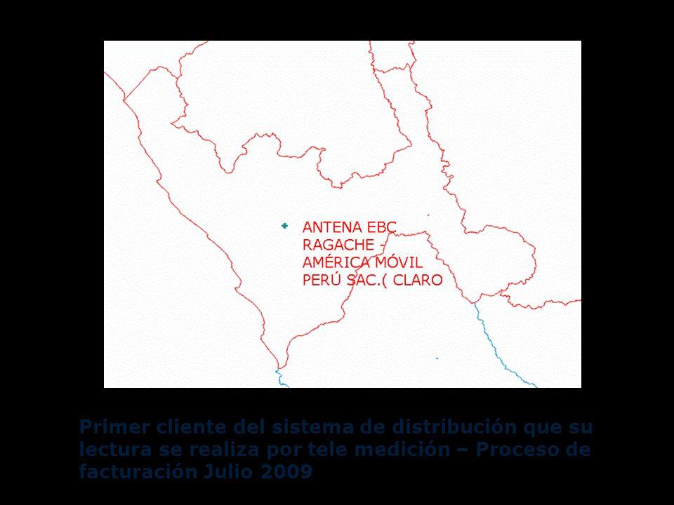 Primer cliente del sistema de distribución que su lectura se realiza por tele medición – Proceso de facturación Julio 2009