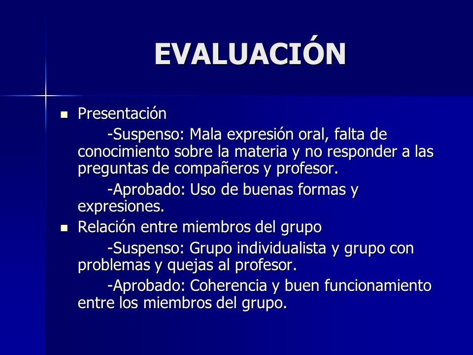 EVALUACIÓN Presentación