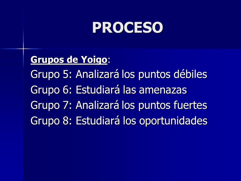 PROCESO Grupo 5: Analizará los puntos débiles