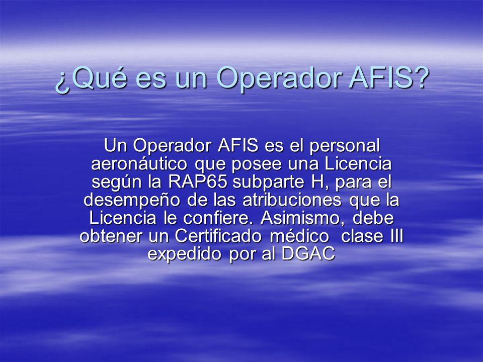 ¿Qué es un Operador AFIS
