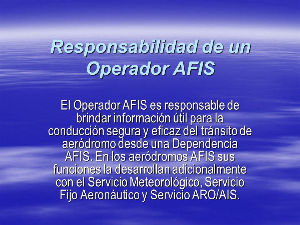 Responsabilidad de un Operador AFIS