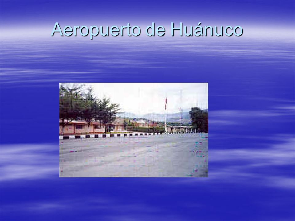 Aeropuerto de Huánuco