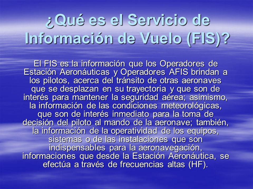 ¿Qué es el Servicio de Información de Vuelo (FIS)