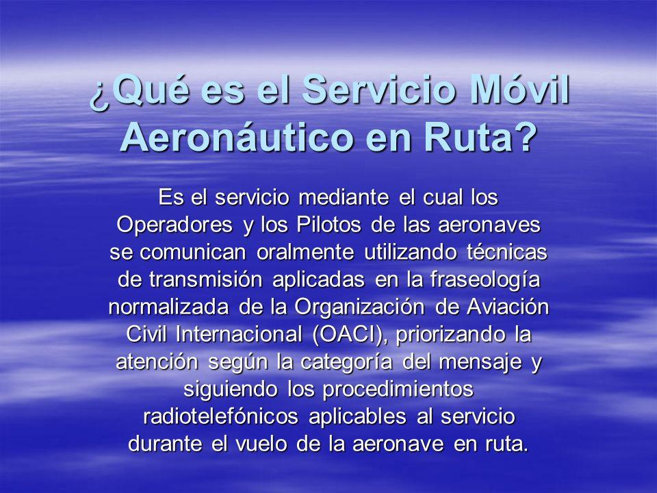¿Qué es el Servicio Móvil Aeronáutico en Ruta