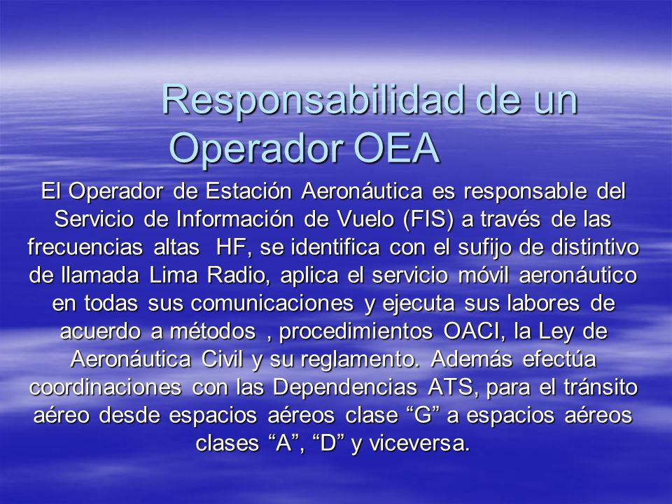Responsabilidad de un Operador OEA