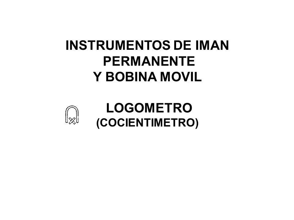 INSTRUMENTOS DE IMAN PERMANENTE Y BOBINA MOVIL LOGOMETRO