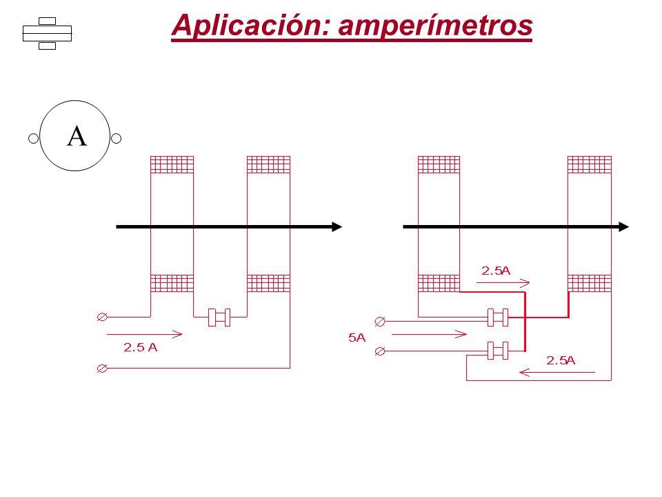 Aplicación: amperímetros