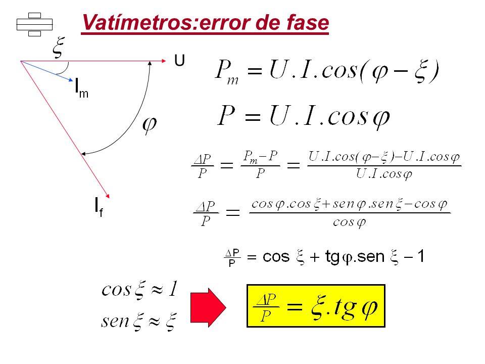 Vatímetros:error de fase