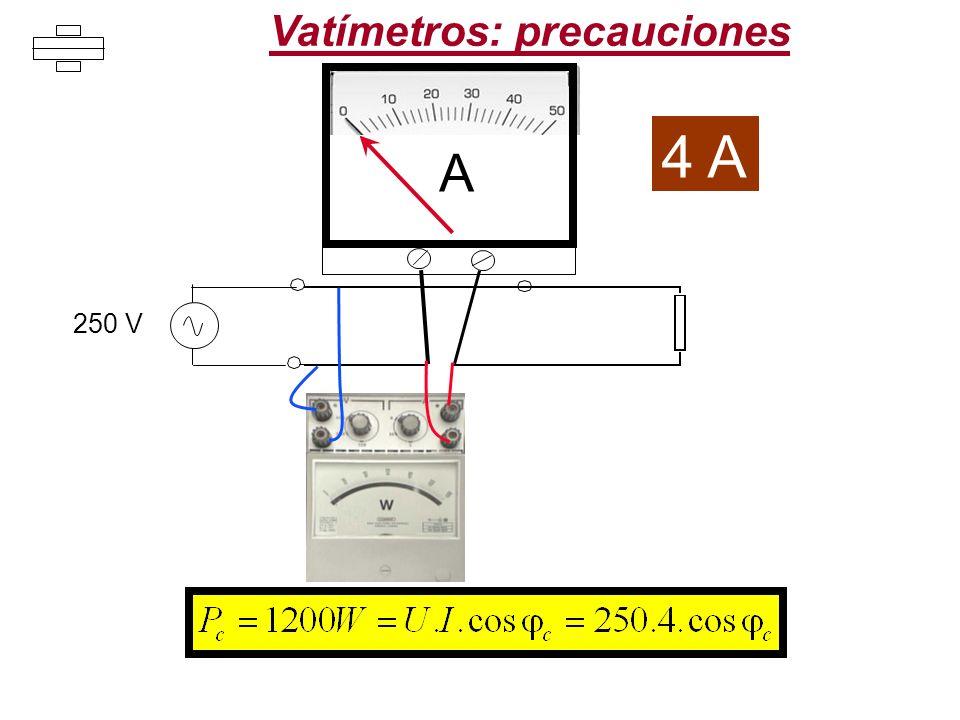 Vatímetros: precauciones