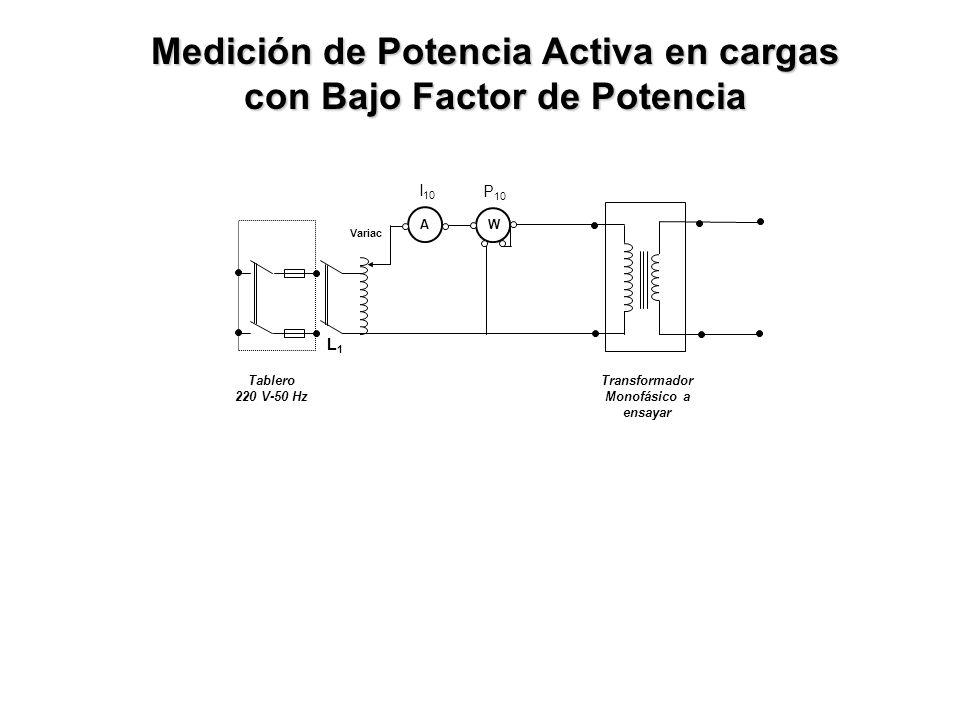 Medición de Potencia Activa en cargas con Bajo Factor de Potencia