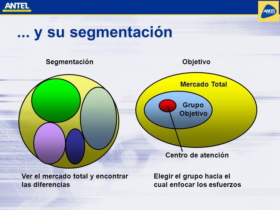 ... y su segmentación Segmentación Elegir el grupo hacia el