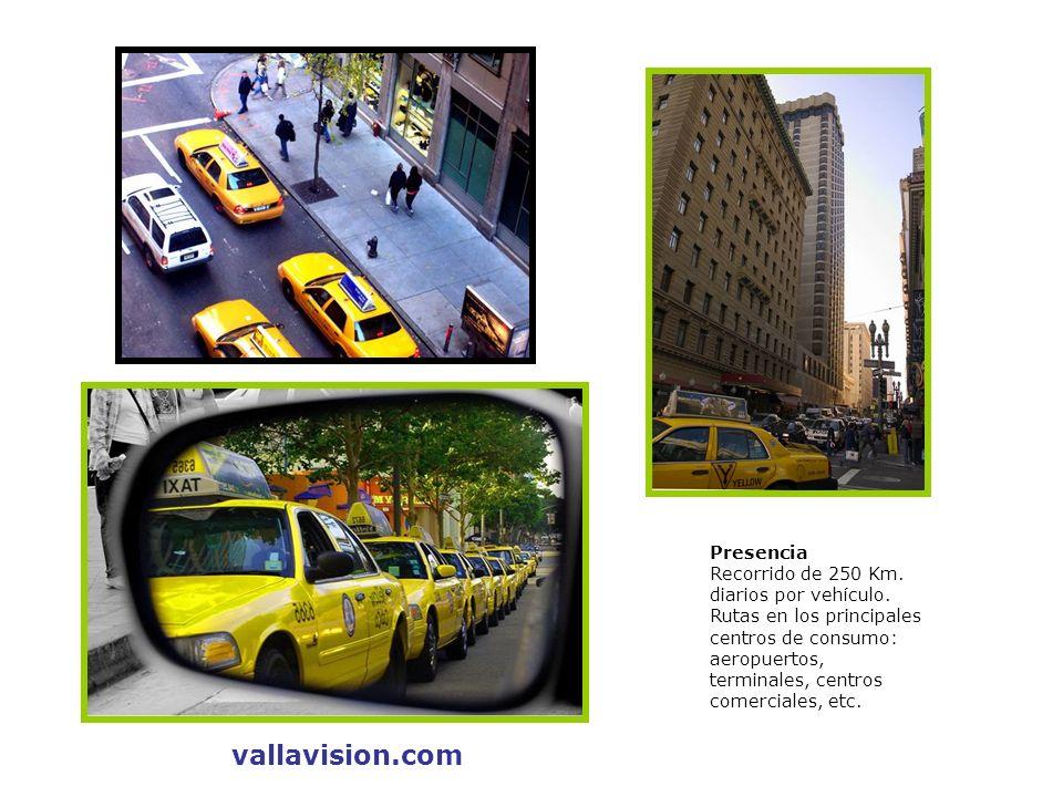vallavision.com Presencia Recorrido de 250 Km. diarios por vehículo.