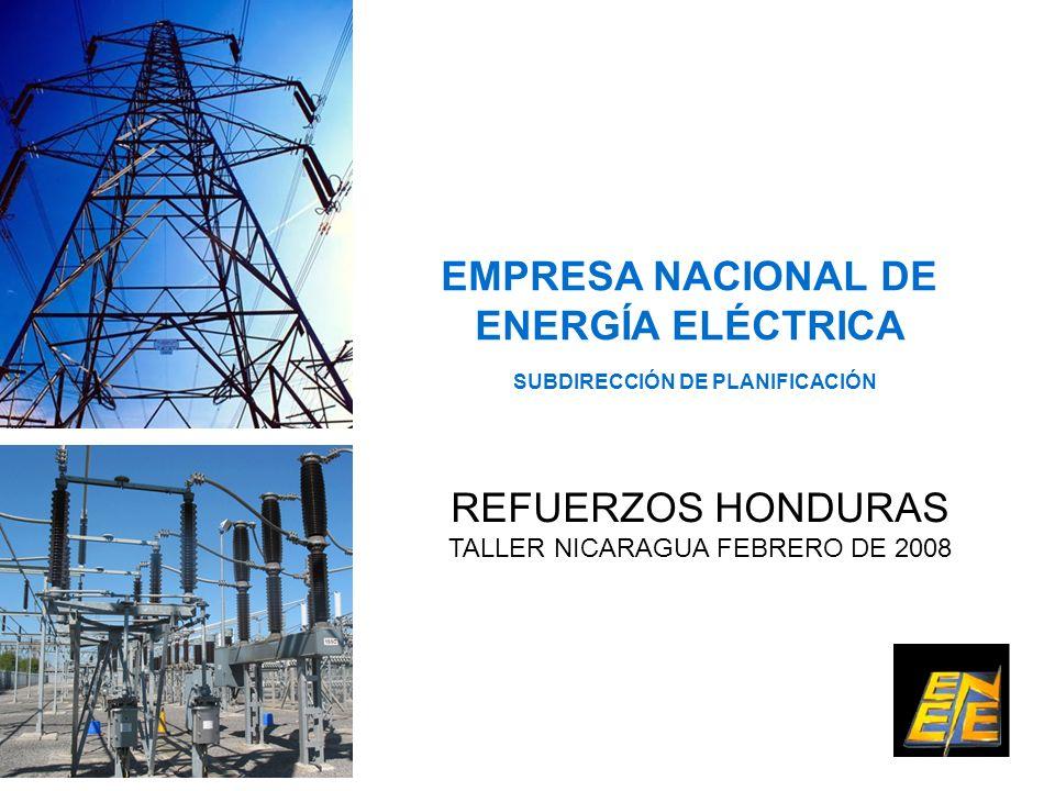 EMPRESA NACIONAL DE ENERGÍA ELÉCTRICA SUBDIRECCIÓN DE PLANIFICACIÓN