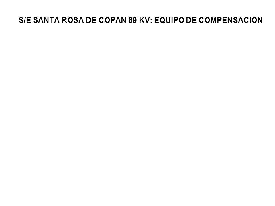 S/E SANTA ROSA DE COPAN 69 KV: EQUIPO DE COMPENSACIÓN